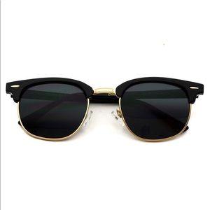 Clubmaster Sunglasses Black Frame Lens Polarized